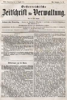 Oesterreichische Zeitschrift für Verwaltung. Jg. 9, 1876, nr31
