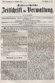 Oesterreichische Zeitschrift für Verwaltung. Jg. 9, 1876, nr39