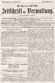 Oesterreichische Zeitschrift für Verwaltung. Jg. 14, 1881, nr2