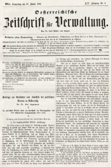 Oesterreichische Zeitschrift für Verwaltung. Jg. 14, 1881, nr3