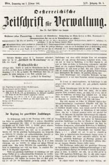 Oesterreichische Zeitschrift für Verwaltung. Jg. 14, 1881, nr5