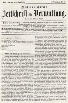 Oesterreichische Zeitschrift für Verwaltung. Jg. 14, 1881, nr33