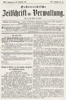 Oesterreichische Zeitschrift für Verwaltung. Jg. 14, 1881, nr39