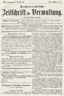 Oesterreichische Zeitschrift für Verwaltung. Jg. 14, 1881, nr49