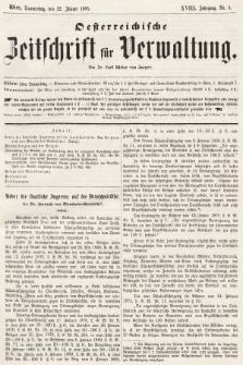 Oesterreichische Zeitschrift für Verwaltung. Jg. 18, 1885, nr4