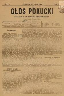 Głos Pokucki. 1899, nr18