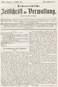 Oesterreichische Zeitschrift für Verwaltung. Jg. 18, 1885, nr36