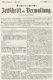 Oesterreichische Zeitschrift für Verwaltung. Jg. 19, 1886, nr2