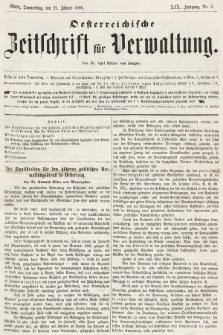 Oesterreichische Zeitschrift für Verwaltung. Jg. 19, 1886, nr3