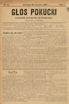 Głos Pokucki. 1899, nr21