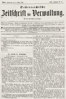 Oesterreichische Zeitschrift für Verwaltung. Jg. 19, 1886, nr10