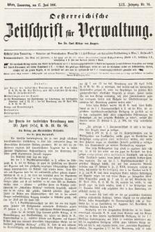 Oesterreichische Zeitschrift für Verwaltung. Jg. 19, 1886, nr24