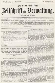 Oesterreichische Zeitschrift für Verwaltung. Jg. 19, 1886, nr44