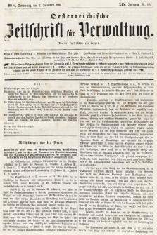 Oesterreichische Zeitschrift für Verwaltung. Jg. 19, 1886, nr48