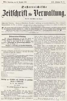 Oesterreichische Zeitschrift für Verwaltung. Jg. 19, 1886, nr51