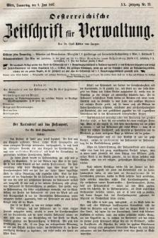 Oesterreichische Zeitschrift für Verwaltung. Jg. 20, 1887, nr23