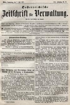 Oesterreichische Zeitschrift für Verwaltung. Jg. 20, 1887, nr27