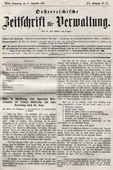 Oesterreichische Zeitschrift für Verwaltung. Jg. 20, 1887, nr37
