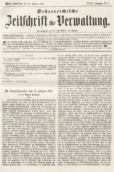 Oesterreichische Zeitschrift für Verwaltung. Jg. 31, 1898, nr3