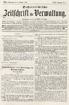 Oesterreichische Zeitschrift für Verwaltung. Jg. 31, 1898, nr8