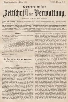 Oesterreichische Zeitschrift für Verwaltung. Jg. 32, 1899, nr5
