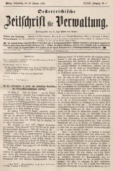 Oesterreichische Zeitschrift für Verwaltung. Jg. 32, 1899, nr8