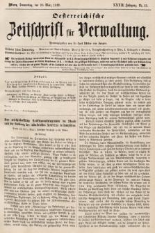 Oesterreichische Zeitschrift für Verwaltung. Jg. 32, 1899, nr13