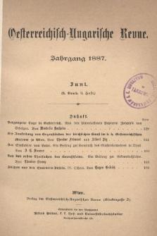 Oesterreichisch-Ungarische Revue. Jg. [2], 1887, Bd. 3, Heft3