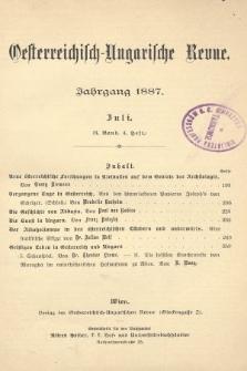Oesterreichisch-Ungarische Revue. Jg. [2], 1887, Bd. 3, Heft4