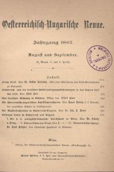 Oesterreichisch-Ungarische Revue. Jg. [2], 1887, Bd. 3, Heft5 und 6