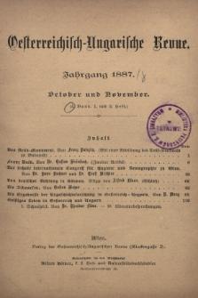 Oesterreichisch-Ungarische Revue. Jg. [2], 1887, Bd. 4, Heft1 und 2