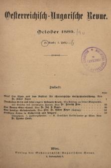 Oesterreichisch-Ungarische Revue. Jg. [4], 1889, Bd. 8, Heft1