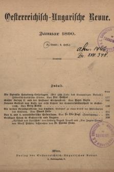 Oesterreichisch-Ungarische Revue. Jg. [4], 1890, Bd. 8, Heft4