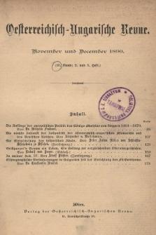 Oesterreichisch-Ungarische Revue. Jg. [5], 1890, Bd. 10, Heft2 und 3