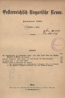 Oesterreichisch-Ungarische Revue. Jg. [5], 1891, Bd. 10, Heft4