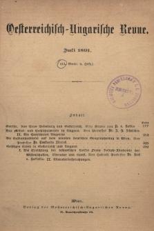 Oesterreichisch-Ungarische Revue. Jg. [6], 1891, Bd. 11, Heft4