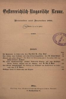 Oesterreichisch-Ungarische Revue. Jg. [6], 1891, Bd. 12, Heft2 u. 3
