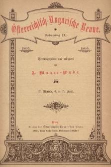 Österreichisch-Ungarische Revue. Jg. 9, 1895, Bd. 17, Heft4 u. 5