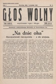 Głos Wolny. 1932, nr3
