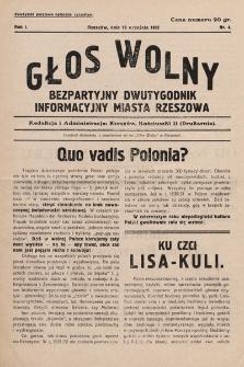 Głos Wolny. 1932, nr4