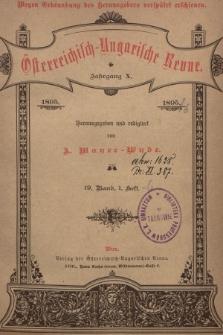 Österreichisch-Ungarische Revue. Jg. 10, 1895, Bd. 19, Heft1