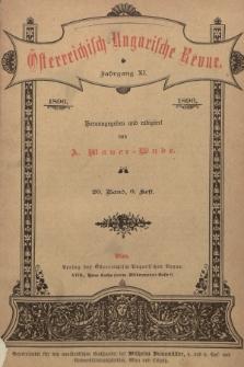 Österreichisch-Ungarische Revue. Jg. 11, 1896, Bd. 20, Heft6