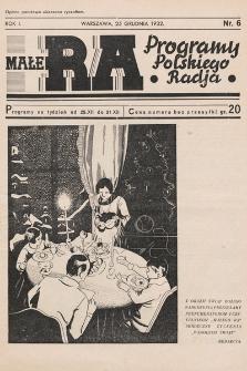 Małe RA : programy Polskiego Radja. R.1. 1932, nr6