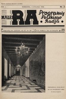 Małe RA : programy Polskiego Radja. R.2. 1933, nr2