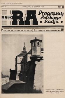 Małe RA : programy Polskiego Radja. R.2. 1933, nr36