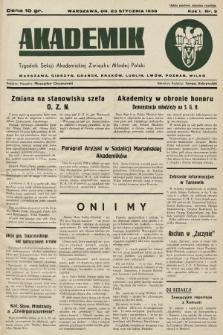 Akademik : tygodnik Sekcji Akademickiej Związku Młodej Polski. R. 1, 1937, nr3