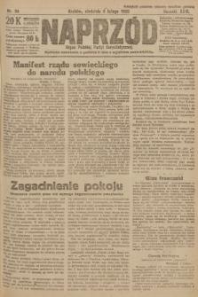 Naprzód : organ Polskiej Partyi Socyalistycznej. 1920, nr 34