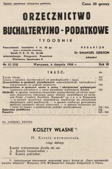 Orzecznictwo Buchalteryjno-Podatkowe : tygodnik. 1938, nr32