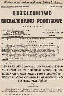 Orzecznictwo Buchalteryjno-Podatkowe : tygodnik. 1939, nr24