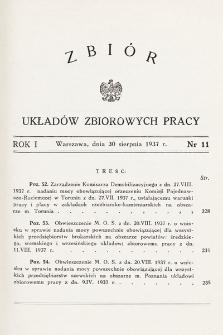 Zbiór Układów Zbiorowych Pracy. 1937, nr11